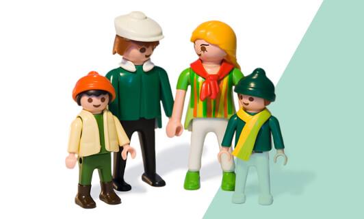 Familieopstelling met Playmobile