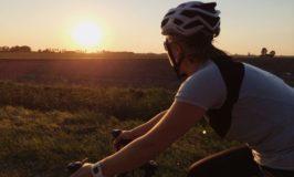 fiets door polder